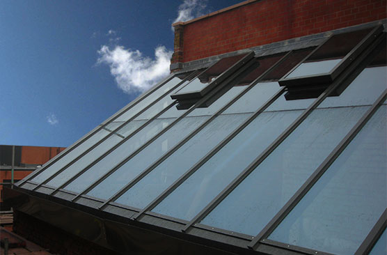 Salford cathedral pitched rooflight